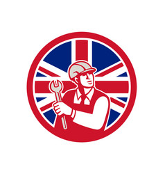 british engineer union jack flag icon vector image