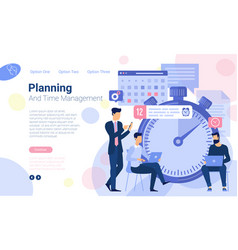 business timeline planning vector image