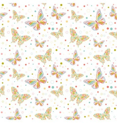 butterfly seamless big vector image