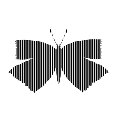 Butterfly sign on white vector image