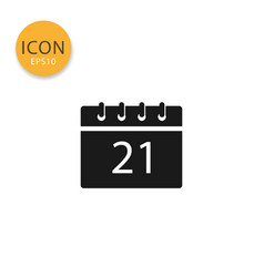 calendar icon isolated flat style vector image