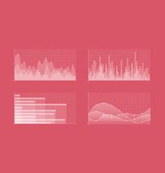 charts set vector image