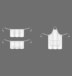Chef aprons white cook uniform 3d mockup vector