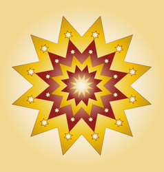 colored round yellow red christmas mandala star vector image