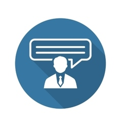 Consulting Icon Business Concept Flat Design vector image