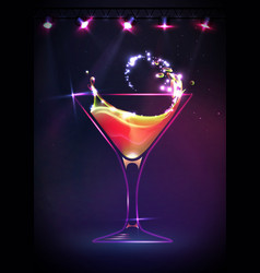 Disco cocktail background vector