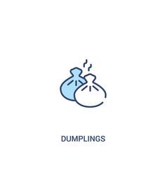 Dumplings concept 2 colored icon simple line vector