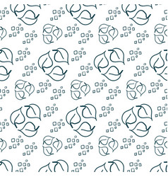 eco natural siple seamless pattern vector image