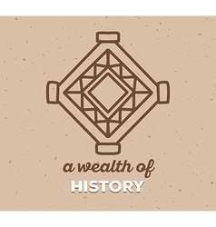 Ethnic tribal amulet sigh with white text vector