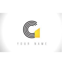 g black lines letter logo creative line letters vector image