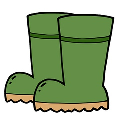 Gardening Rubber Boots vector image