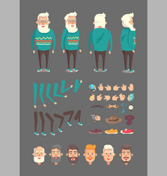 grandfather constructor set vector image