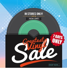Greatest Vinyl Sale Banner vector image
