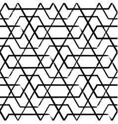 Hand drawn seamless pattern with hexagon shapes vector