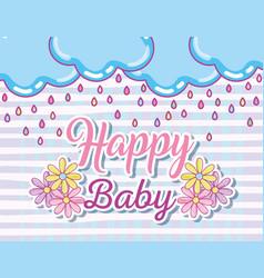 Happy baby card vector