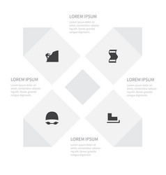 icon activities set of mountaineer goggles slide vector image