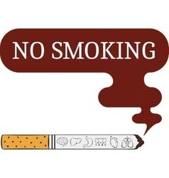 label o smoking sticker vector image