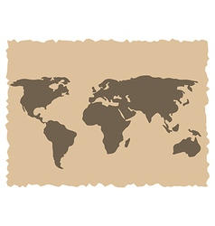 Old world map vector image