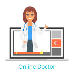 Online doctor and consultation vector