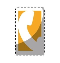phone icon button thumbnail vector image