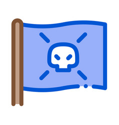 pirate flag icon outline vector image