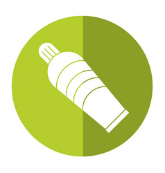 Plastic tube cream icon shadow vector