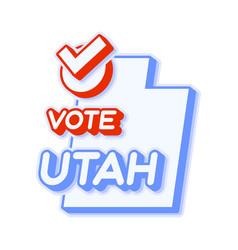 presidential vote in utah usa 2020 state map vector image