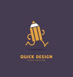 quick design vector image