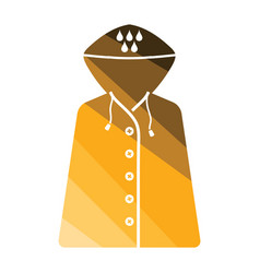raincoat icon vector image