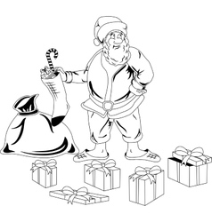 Santa Claus with Christmas presents vector image