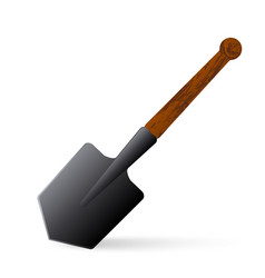 sapper shovel on a white background vector image