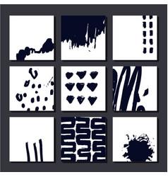 set artistic cards posterls art hand vector image