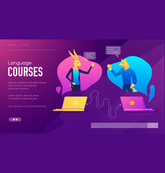 set distance education consulting vector image