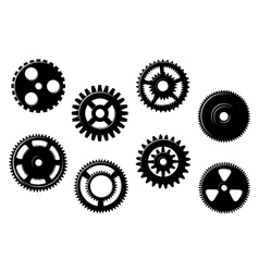 Set of gears and pinions vector image