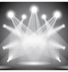 Set of scene illuminations transparent effects vector image