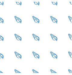 shell icon pattern seamless white background vector image