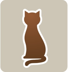 Sign with cat vector