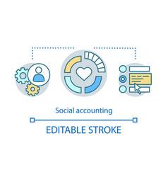 Social accounting concept icon vector