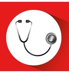 stethoscope with heart icon vector image