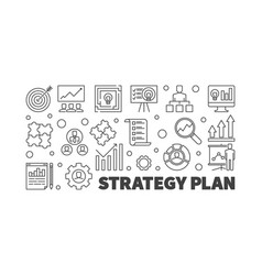 strategy plan outline concept vector image