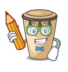 Student conga character cartoon style vector