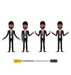 suprised african business man waving her hand vector image