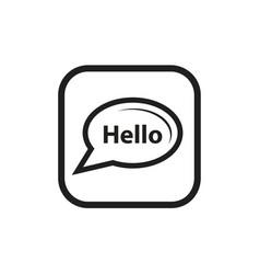 talk bubble icon vector image