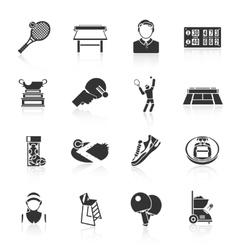 Tennis icons black vector image