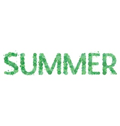 The word summer vector