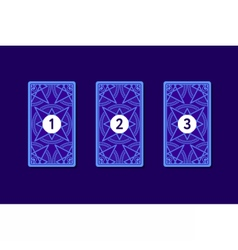 Three card tarot spread Reverse side vector