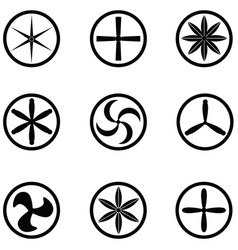 turbine icon set vector image