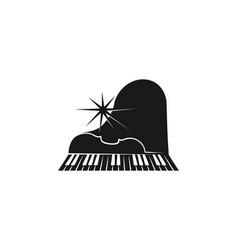 violin piano instrument musical logo designs vector image