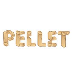 word pellet wood pellets stove vector image