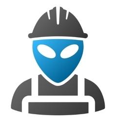 Alien worker gradient icon vector